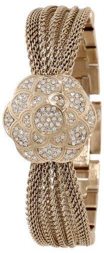 AK Anne Klein Women's AK/1046CHCV Swarovski Crystal Accented Watch - Accented, AK/1046CHCV, Anne, Crystal, Klein, Swarovski, Watch, Women's - http://designerjewelrygalleria.com/anne-klein-jewelry/ak-anne-klein-womens-ak1046chcv-swarovski-crystal-accented-watch/