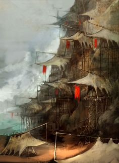 Tengu Hut from Guild Wars Factions #illustration #artwork #gaming #videogames #gamer