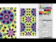 "Tricks for scaling patterns- A video lesson from my 3-week intermediate Adobe Illustrator class ""Illustrator 2."" More tips and info on my blog http://coyleart.typepad.com/coyleart/onlineclasses.html"
