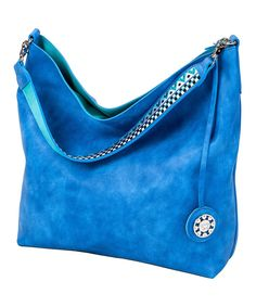 fe6a97f1948c Cobalt   Turquoise Reversible Hobo Bag   Crossbody Bag