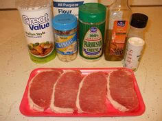 Easy Does It: Italian Breaded Pork Chops Super easy super delicious! Hubby loved it! Thin Pork Chops, Breaded Pork Chops, I Love Food, Good Food, Yummy Food, Tasty, Comfort Food Image, Comfort Foods, Dinner Entrees