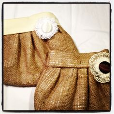 More Burlap Wedding Clutches!  I could make these for my girls with their gifts inside! how cute!