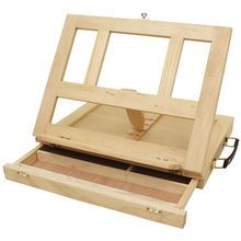 Art Alternatives Marquis Artists Adjustable Desk Box Easel, Natural Feature Product A portable miniature desk that converts to a painting ea. Sketch Box, Wooden Painting, Portable Washing Machine, Art Easel, Gifts For An Artist, Book Stands, Marquise, Wood Desk, Wood Art