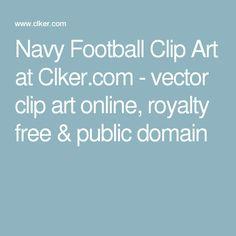 Navy Football Clip Art at Clker.com - vector clip art online, royalty free & public domain