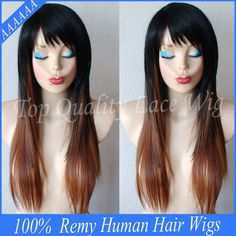 Cheap wigs women thinning hair, Buy Quality wig white directly from China wig factory in china Suppliers: Free Shipping 6A Ombre Full Lace Wigs Straight/Glueless Lace Front Wig Two Tone #1b/Red For Black Women 130%Density Cene