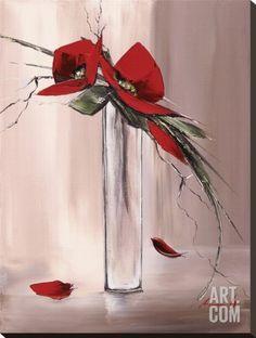 Art.fr - Tableau sur toile 'Les Fleurs Rouges II' par Olivier Tramoni