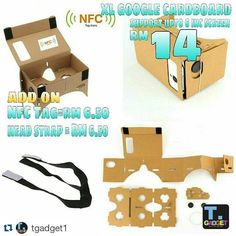 """An awesome Virtual Reality pic! #Repost @tgadget1 with @repostapp  XL size Google Cardboard  If u want know this function.... Pls goto YouTube and search """"Google Cardboard""""  Package includes: 1 x Cardboard 2 x Magnets 2 x Lens 2 x Pairs of Velcros  Pls Whatsapp me 012-5974138 Wechat ID: kokwei4138  Pos Laju every working days!!! Pls search """"tgadgettestimony"""" in instagram....for my testimony from my customer...Thank You!! #googlecardboard #3d #cardboardmalaysia #monopodmalaysia #diymalaysia…"""