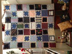 A quilt made from a man's favorite dress shirts!