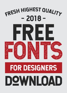25 Freshest Free Fonts for Graphic Designers