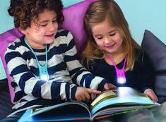 Kids Interior, Book Lamp, Battery Operated Lights, Junior, Low Lights, Multifunctional, Flashlight, Night Light, Over Ear Headphones