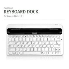 """Genuine Samsung EKD-K14AWEGTGY Keyboad Dock (can be used as View Stand/Charging Station) Features: - Design for N8010 Galaxy Note 10.1"""" Tablet - Best Stand up Angle for convenience typing - Can charge tablet at the same time - Audio Out option for external speaker. http://www.galleon.ph/product/detail/804274/samsung-keyboard-dock-for-galaxy-note-101-ekd-k14awegtgy"""
