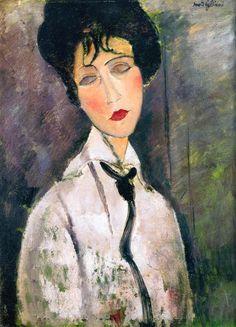 modigliani.莫迪里安尼(1884-1920)義大利表現主義畫派,受印象派、立體主義和非洲藝術的影響創出個人風格。以優美弧形的肖像畫具有特色。
