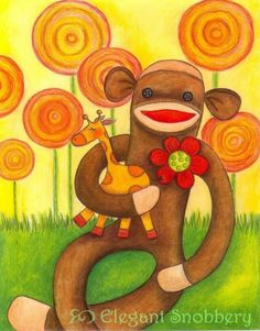 http://www.etsy.com/listing/25428612/jimmy-the-silly-sock-monkey-11-x-14?ref=tre-2071482059-5    http://www.etsy.com/treasury/ODkwNzk0MHwyMDcxNDgyMDU5/in-the-junglethe-fabulous-artistic?index=1879