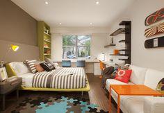 Bunte Farbgestaltungsidee Für Jugendzimmer Modernes Kinderzimmer,  Kinderzimmer Ideen, Jugendzimmer Gestalten, Skandinavisches Design,