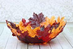 panier feuilles déco automne à fabriquer soi-même