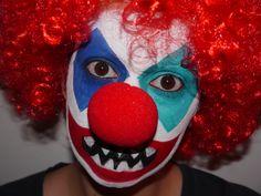 Clown look for Halloween!