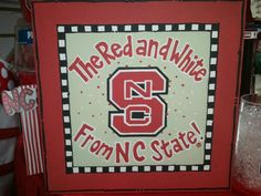 The Red & White From NC State!