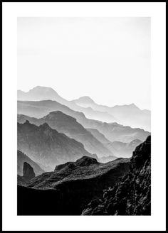 A stylish and pretty photo art poster with high mountains in front of a bright . - A stylish and pretty photo art poster with high mountains against a bright sky. The motif has a dep - White Picture, Picture Wall, Rocky Mountains, Forest Poster, Poster Photo, Poster Store, Beach Posters, Black And White Posters, Black And White Prints