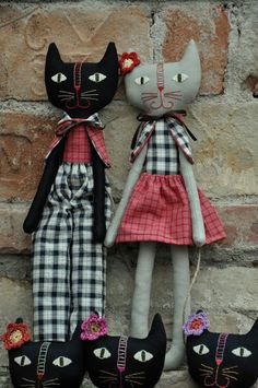 Handmade kitty cats.