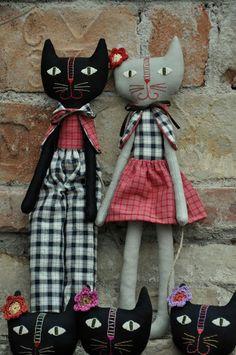 Handmade kitty cats.