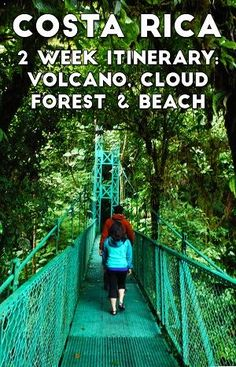 A sample 2 week itinerary in Costa Rica: visit the rain forest, volcano, cloud forest and beaches https://mytanfeet.com/costa-rica-travel-tips/2-week-costa-rica-itinerary/