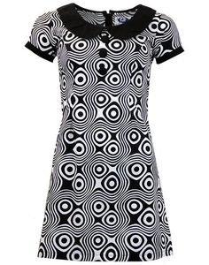 MADCAP ENGLAND Dollierocker Op Art Retro 1960s Mod Dress