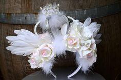 Angel winged headdress  CUSTOM DESIGNED.  Crown  by ScarletHarlow