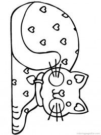 Cats and Kitten Coloring Pages 3