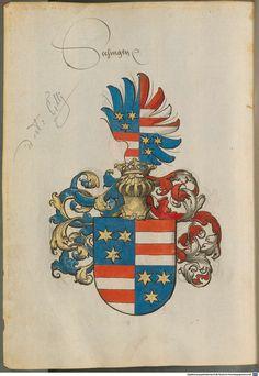 Leaf from Sammelband mehrerer Wappenbücher - BSB Cod.icon. 391