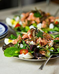 Copper River King Salmon Salad (one of my favorite ways to eat salmon is in a salad and this one is delicious)