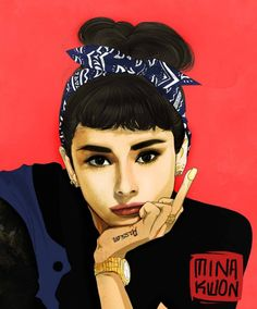 """""""Bad Girls are the Prettiest"""" by MIna Kwon. Audrey has never looked better."""