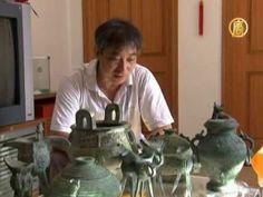 Китайский скульптор делает шедевры из газет - YouTube