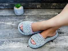 CROCHET PATTERN women and men spa&wellness slippersall