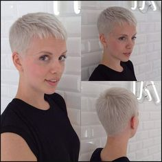 Today we have the most stylish 86 Cute Short Pixie Haircuts. We claim that you have never seen such elegant and eye-catching short hairstyles before. Pixie haircut, of course, offers a lot of options for the hair of the ladies'… Continue Reading → Really Short Haircuts, Short Pixie Haircuts, Pixie Hairstyles, Straight Hairstyles, Hairstyles 2016, Cropped Hairstyles, Trendy Haircuts, Blonde Hairstyles, Hairstyle Short
