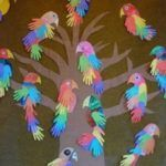 P is for Parrot Handprint Bird craft. I love these hand print craft ideas! Parrot Handprint Bird craft for kids! These colorful parrots made from hand cutouts are simply adorable. Pair with a fun parrot book s Grandma's Craft And Cooking Corner: Parrot Ha Kids Crafts, Daycare Crafts, Summer Crafts, Toddler Crafts, Craft Projects, Craft Ideas, Easy Crafts, Elderly Crafts, Parrot Craft