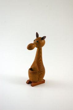 Modernist Wooden Kangaroo  Bojesen and Bolling Era by bitofbutter, $29.00