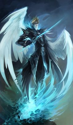"""""""An Angel?"""" Lex scoffed. """"Don't let him hear you say that. Far from it in fact, he's like me. Different species, same race. A white fury."""" (B6: Return of Darkness) ~Wendy Hamlet (Fantasy Artworks by Sandara)"""