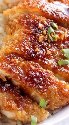 Crispy Pan Fried Honey Garlic Chicken