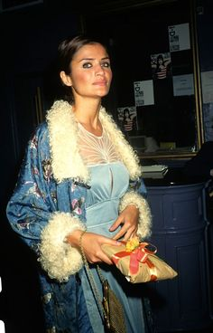 Helena in blue attending Eva Herzigova's birthday party, 1997 Rocker Style, Rocker Chic, 90s Models, Fashion Models, 90s Fashion, Fashion Photo, Fashion Beauty, 1990 Style, Danish Fashion