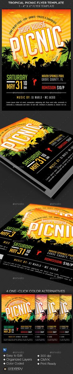 Church Picnic Flyer Template | Church Picnic, Picnic Birthday And