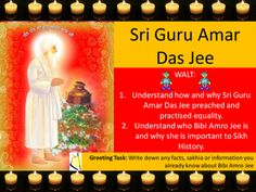 Sri Guru Amar Das Jee Lesson