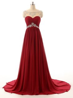Beadings Wine Red long Prom Dress 2017, #promdress, #promdress2017, #burgundypromdress