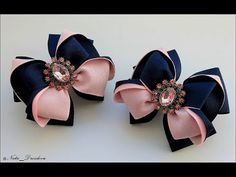 Ribbon Art, Ribbon Bows, Ribbons, Easy Paper Crafts, Felt Crafts, Bow Template, Baby Hair Clips, Boutique Hair Bows, How To Make Ribbon