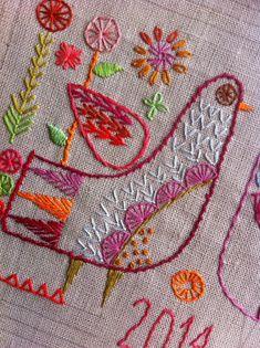 Hand embroidered Sampler download...Nancy Nicholson