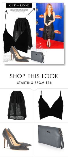 """Inspiration by Katherine McNamara"" by adelinejaned on Polyvore featuring Vera Wang, Boohoo, Gianvito Rossi and Topshop"