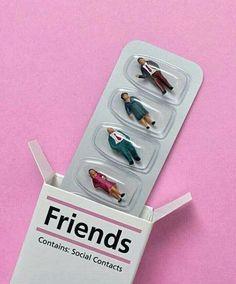 落ち込んだ時に友達は薬だ。