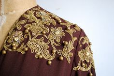 40s jacket with gold embroidery