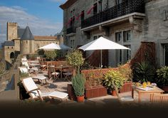 Visiting Carcassone, France's medieval city? Splurge and pamper yourself with a few days stay at Hotel de la Cite, a far cry from the castle city's dungeon.