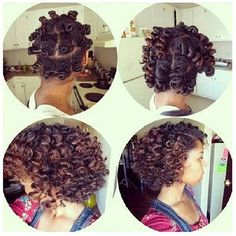 Bantu Knots, natural hair