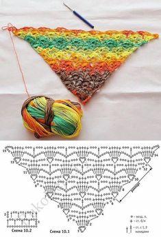 Xales de crochê. Fotos: pinterest.com
